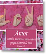 Love One Another Spanish Metal Print