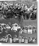 Love Padlocks On The Bridge Metal Print