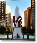Love Park - Love Conquers All Metal Print