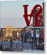 Love Park And The Parkway In Philadelphia Metal Print