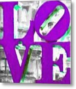 Love Philadelphia Purple Digital Art Metal Print