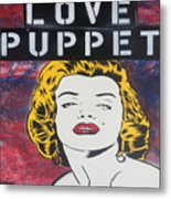 Love Puppet Metal Print