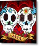 Love Skulls Metal Print by Tammy Wetzel