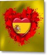 Love Spain Metal Print