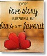 Love Story Metal Print