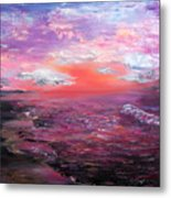 Love Sunsets And Dawns Metal Print