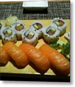 Love Sushi Metal Print