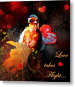 Love Takes Flight Metal Print
