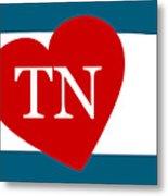 Love Tennessee White Metal Print