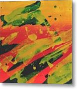 Love Those Diagonals - Yellow 1 Metal Print