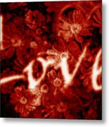 Love With Flowers Metal Print