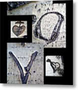 Love Written In The Trees 4 Metal Print
