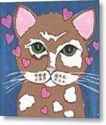 Loveable Cat - Cute Animals Metal Print