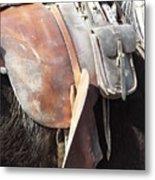 Loved Leather Tack Metal Print