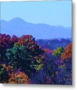 Lovely Asheville Fall Mountains Metal Print