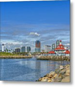 Lovely Day Long Beach Metal Print
