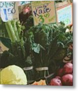 Lovely Kale Metal Print