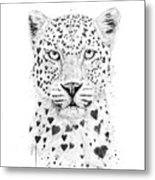 Lovely Leopard Metal Print