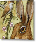 Lovely Rabbits - By Listening To The Song Metal Print