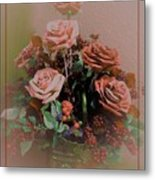 Lovely Rustic Rose Bouquet Metal Print