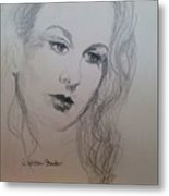 Lovely Vivien Metal Print