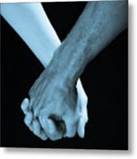 Lovers Hands Metal Print