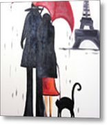 lovers in Paris Metal Print