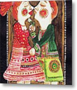 Lovers Kiss Metal Print