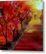 Lovers' Lane Metal Print