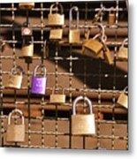 Lovers Locks 2 Metal Print