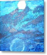 Lover's Moon Metal Print
