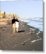 Lovers On The Beach Metal Print