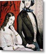 Lovers Quarrel, 1846 Metal Print