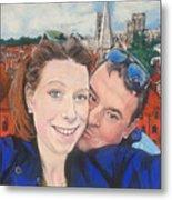 Lovers Selfie In York, England Metal Print