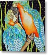 Loving Birds Metal Print
