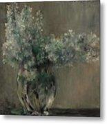 Lovis Corinth Ostpreussen 1858 - 1925 Zandvoort Still Life With White Lilacs. Metal Print