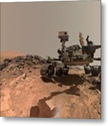 Low-angle Self-portrait Of Nasa's Curiosity Mars Rover Metal Print