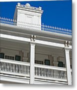 Low Angle View Of Brigham Youngs Metal Print