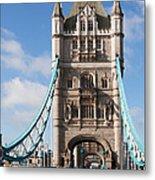 Low Angle View Of Tower Bridge, London Metal Print