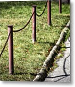 low fence Chain Metal Print