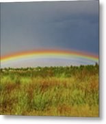 Low Lying Rainbow Metal Print
