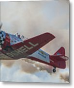 Low Pass Stunt Plane Metal Print