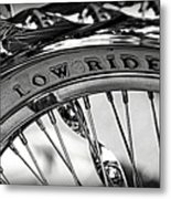 Low Rider In Black And White Metal Print