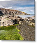 Low Tide At Cullernose Point Metal Print