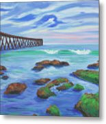 Low Tide At Haskell's Beach Metal Print