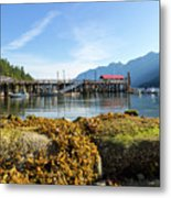 Low Tide At Horseshoe Bay Canada On A Sunny Day Metal Print