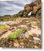 Low Tide At Saddle Rocks Metal Print