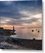 Low Tide At Salem's Lighthouse Metal Print