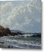 Low Tide, Hetherington's Cove, Grand Manan By Alfred Thompson Bricher Metal Print