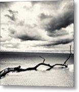 Low Tide, Lindisfarne Metal Print